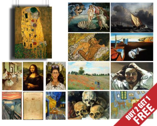 A3-Size-FAMOUS-PAINTERS-CLASSIC-PAINTINGS-Poster-Fine-Art-Print-Home-Wall-Decor
