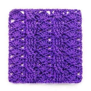 Variations on a theme, square 13 ::  cables are FPTC.  This blog has some *terrific* free patterns!!  #crochet #square #cable #motif