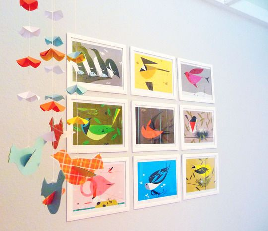 "Edie's Charley Harper ""Birds & Words"" Nursery My Room (but doesn't have to be in a nursery)"
