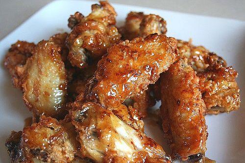 Korean style chicken wings – crispy wings with sweet ginger glaze