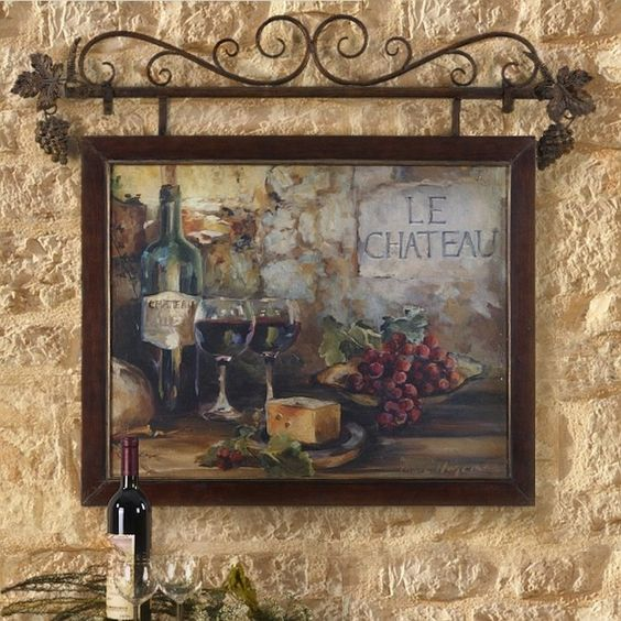 Old World Decorating: Old World Italian Style TUSCAN WALL ART Mediterranean Wall