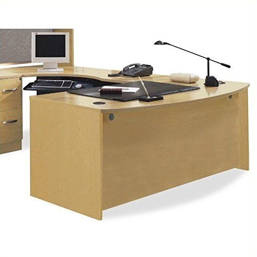 Bush Furniture Series C U Shape Bow Front Wood Desk With Left