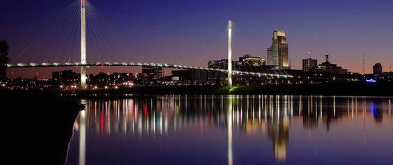 Walking Bridge over the Missouri River at Omaha