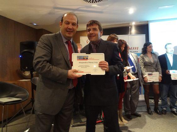 2012 Entrega de Certificado Homologación de Mentor Formador Inmobiliario para Alejandro Pérez Irús AlejandroPI Consultorias Agencias Inmobiliarias con Ignacio Castillo Tutor