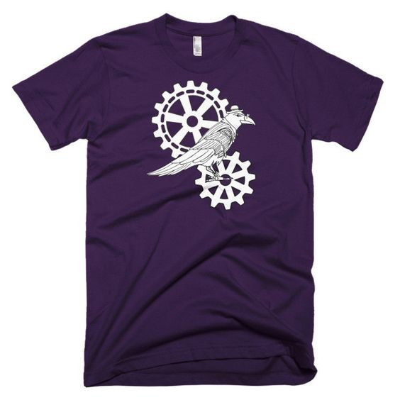 Steampunk Raven And Cogs - Short Sleeve Men's TShirt