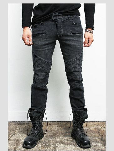 "Men's ""Ashe"" Faded Black Biker Jeans – Tattee Boy Clothes 
