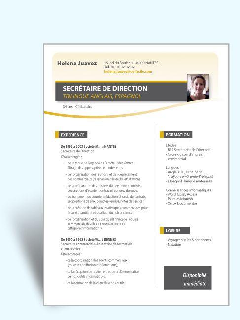 Resultat De Recherche D Images Pour Cv Exemple Secretaire Comptable Workbook Good Company Design Reference