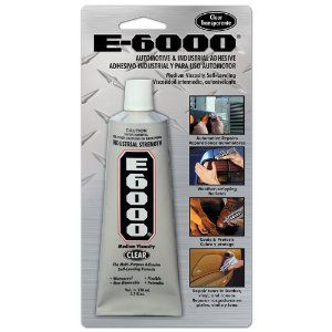 E-6000 Med Visc 3.7-Ounce Auto/Industrial Carded Adhesive - use to make tiered tray stands...