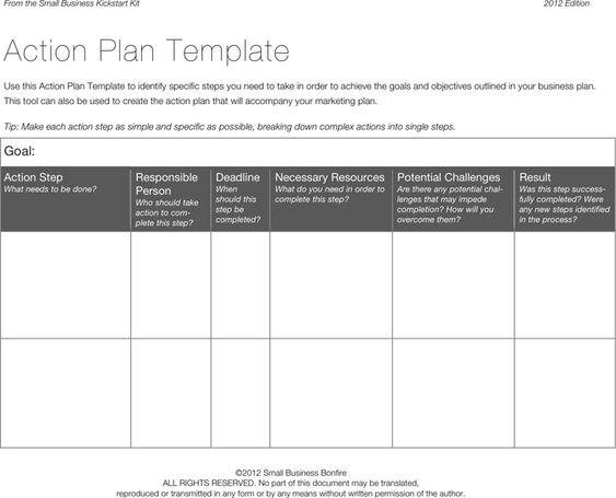 Action Plan Template 3 Project Management Pinterest Chang\u0027e 3