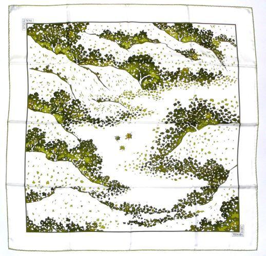 Hermès - Trois feuilles et signé C.B