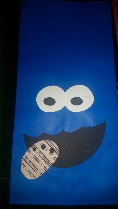 Cookie monster goodie bag