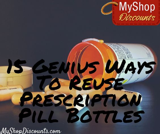 You've got to read these amazing ways to reuse prescription pill bottles. You'll go nuts over #10!