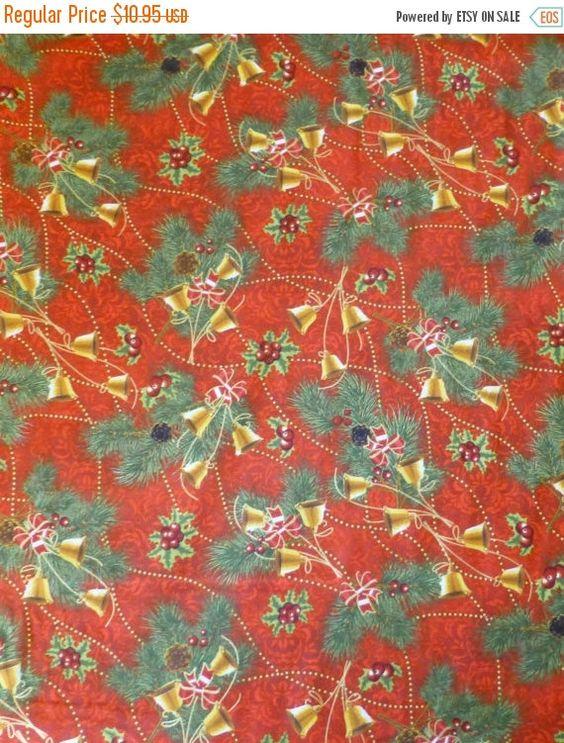 CLEARANCE SALE - Cotton Fabric, Home Decor, Quilt, Craft, Christmas - christmas clearance decor