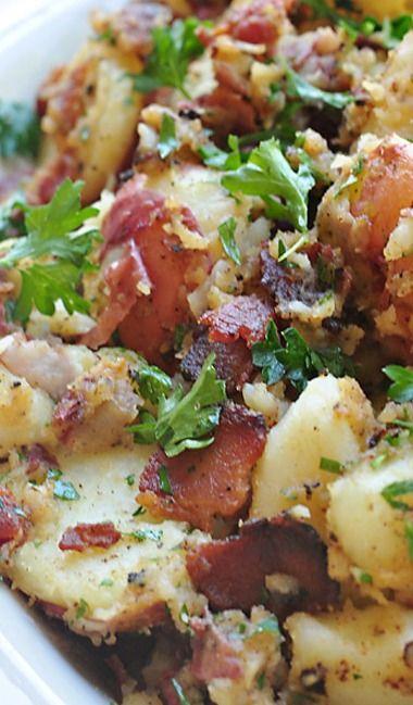 //German Potato Salad - It's delicious! #food #salad