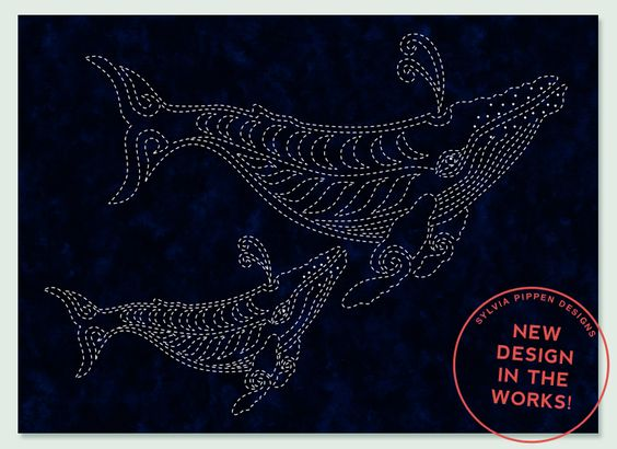 NEW! Sylvia Pippen Designs - Two Whales