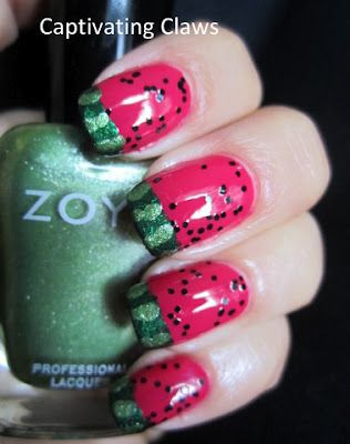 Copycat mani...The one with Destany's watermelon nails..