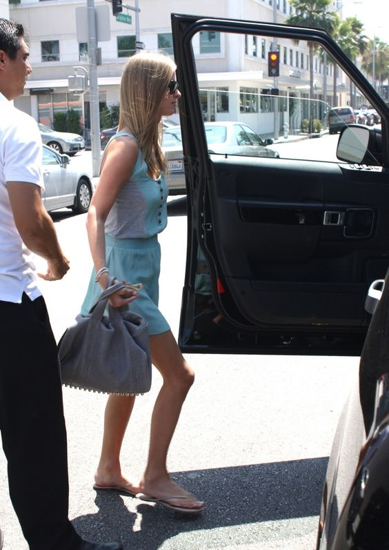 Nicky Hilton Carrying The Alexander Wang Studded Rocco Bag