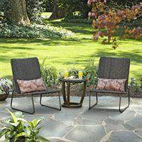 Garden Treasures Kenmont 3-Piece Outdoor Woven Bistro Set