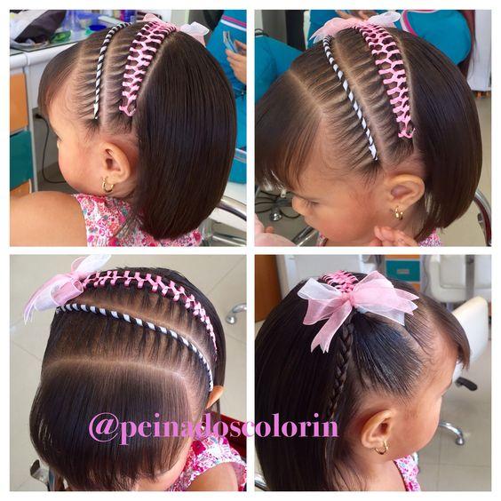Peinados en cinta para cabello corto tambi n en colorin - Peinados para ninas faciles de hacer ...