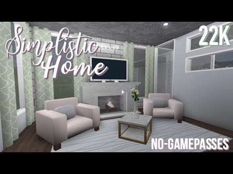 Bloxburg No Gamepass Simplistic Home 22k Youtube Modern Family House Family House Aesthetic Bedroom