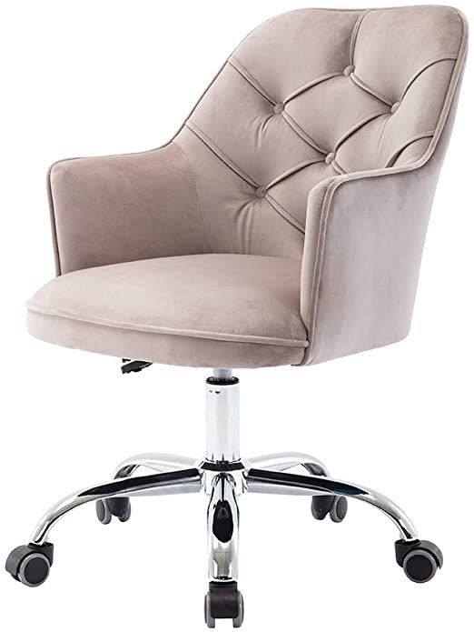 Saygogo Desk Chair Velvet Swivel Shell Chair Office Chair Modern Leisure Arm Chair For Living Room Amp Bed In 2020 Modern Office Chair Shell Chair Living Room Chairs