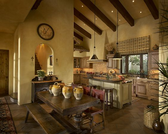 Tuscan concrete countertops modern influences of for Tuscany interior designs