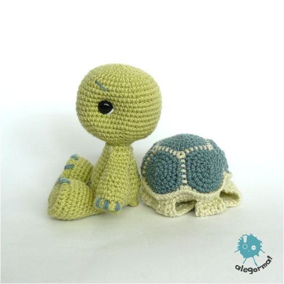 Crochet Patterns Turtle : Turtle crochet Pinterest Turtles, Amigurumi and Crochet