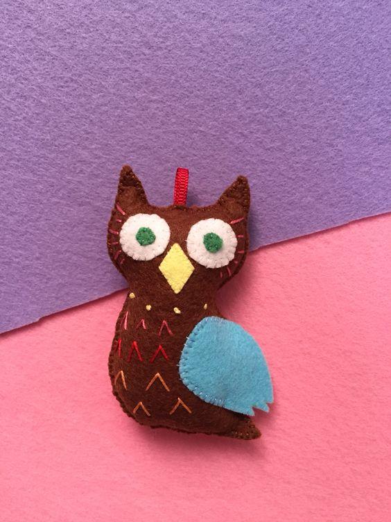 Felt craft , Felt doll, Felt owl ♥️