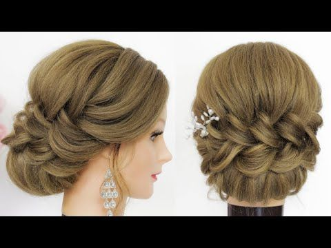 New Hairstyles For Long Hair Bridal Updo Tutorial Youtube In 2020 Hair Accessories Bun Bun Hairstyles Braided Hairstyles Updo