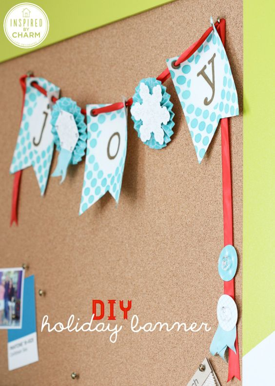 Christmas Crafts: DIY Banner!  Inspire. Create. Share. #stampinup #IBCholiday