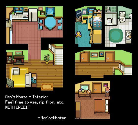 Ashs House Interior Tiles By Morlockhater Deviantart Com On Deviantart Pixel Art Pinterest House Interiors Ash And Tile
