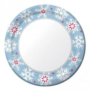 """Nordic Flakes 9"""" Foil Dinner Plates - 96 per case Product # :426314 $37.52"""
