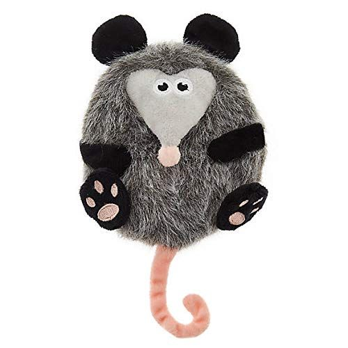 Top Paw Grey Possum Flattie Crinkle Dog Toy Small Have A Look