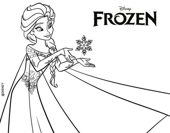Princesas Disney Dibujos Para Colorear Foto: Dibujo De Frozen Elsa Para Colorear