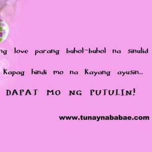 love-quotes-tagalog-patama-sa-crush secret Pinterest Love quotes ...