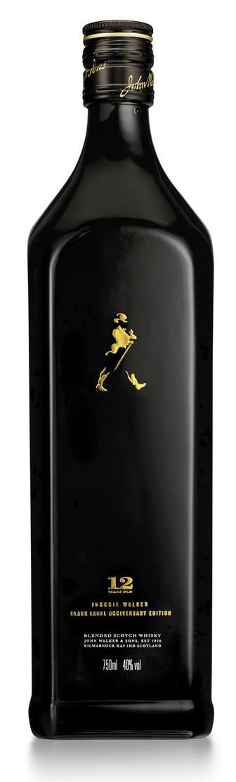 Johnnie Walker Black Striding Man, $50: