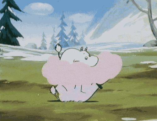 We Heart It의 이미지 [애니메이션] #moomin #moomins #themoomins #moomingif