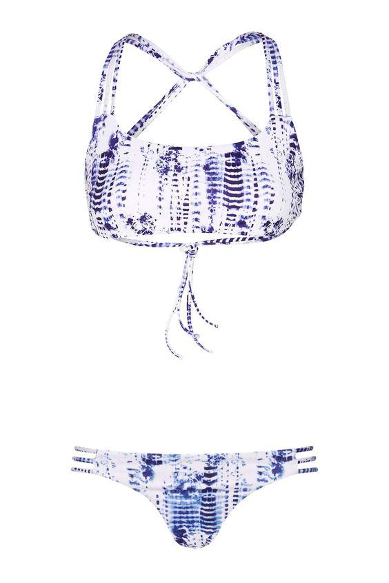 Tie-Dye Bikini Crop Top and Bottoms - Bademode & Strandkleidung - Bekleidung - Topshop
