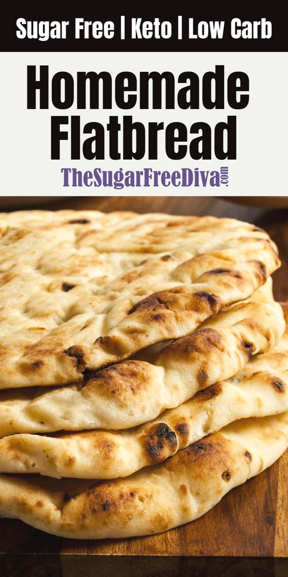Keto | Low Carb | Sugar Free Flatbread (the best!)