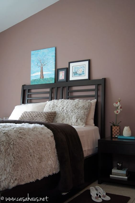 Cozy Winter Bedroom In Brown And Aqua