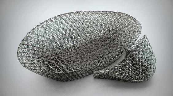 canapé repose-pieds design impression-3D Janne Kyttanen