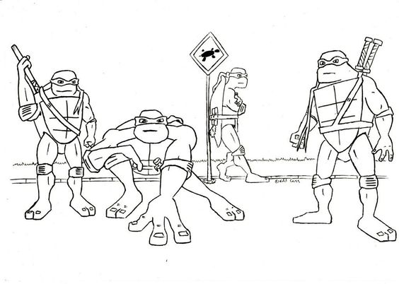 tmnt coloring pages on pinterest - photo#13