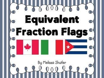 math worksheet : fraction flags making equivalent fractions visual  equivalent  : Fraction Flags Worksheet
