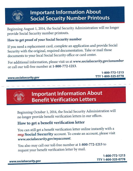Social Security Administration ~ Important Information about - social security form