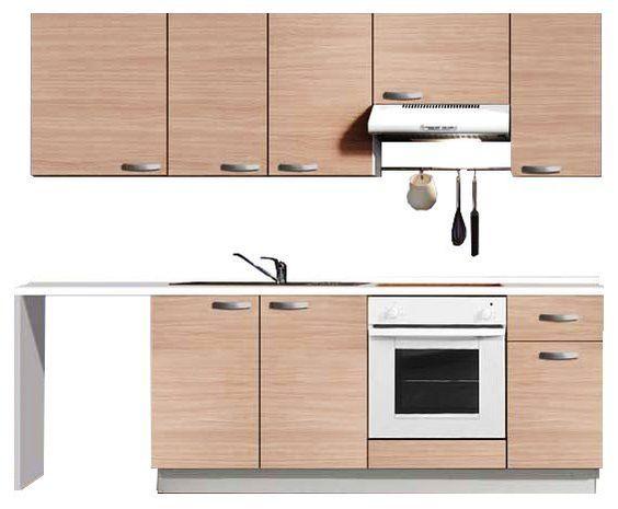 #Cocina premontada STUDIO, que permite intalar placa de gas o vitrocerámica.