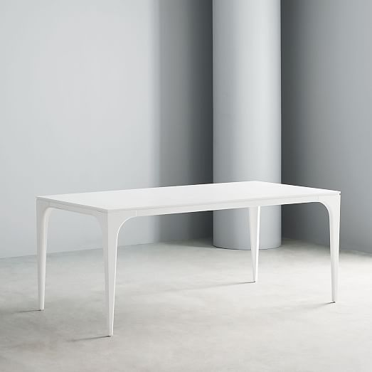 Adam Court Dining Table White Lacquer Lacquer Dining Table