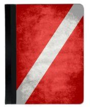 Scuba Diver Down Flag iPad Mini Cover // Description Design features the Diver Down flag with an aged and distressed texture. Great gift for any Scuba diver! iPad case is designed to fit iPad Mini and is made of black suede and canvas. It's a professional and fun way to protect and utilize your iPad! iPad slides into case and is secured with a velcro strap. There is a hole in the back for the iPa// read more >>> http://Coffman180.iigogogo.tk/detail3.php?a=B00GT8LZE2