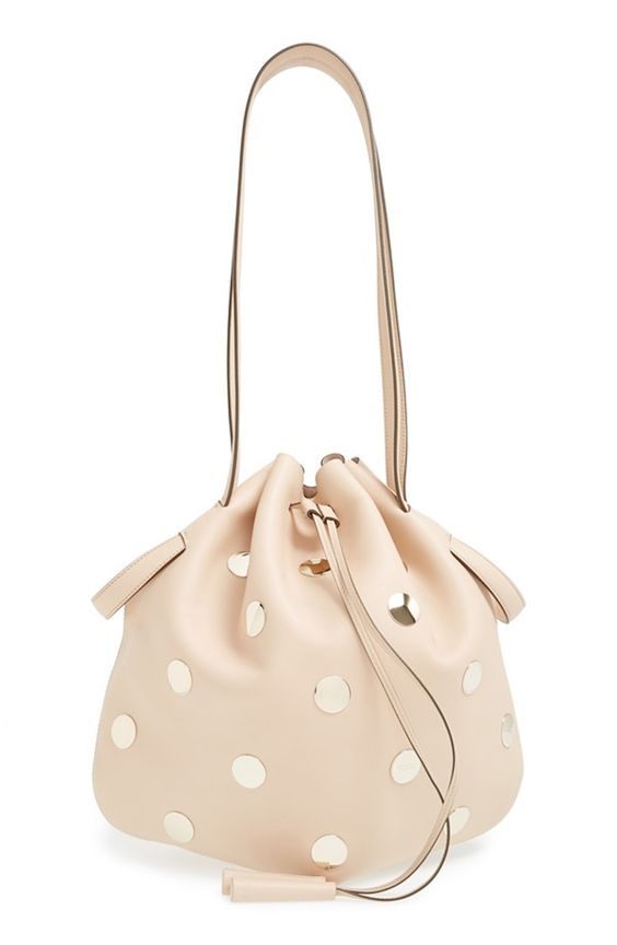 Tod's Studded Leather Drawstring Tote
