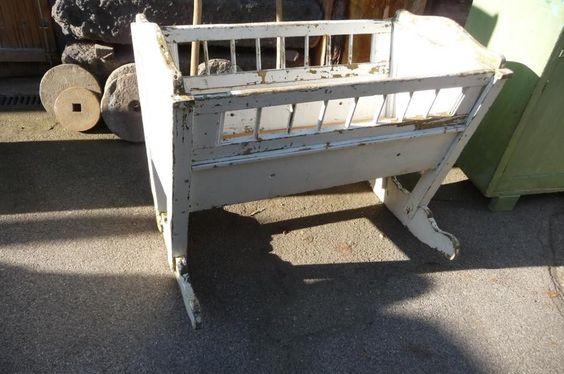 7247. Alte Kinderwiege Kinderbett Wiege | eBay