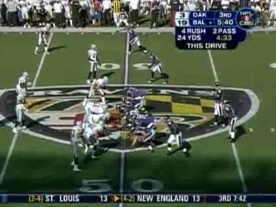 That one time Joe Flacco caught a 43-yard pass...  And made it look effortless.